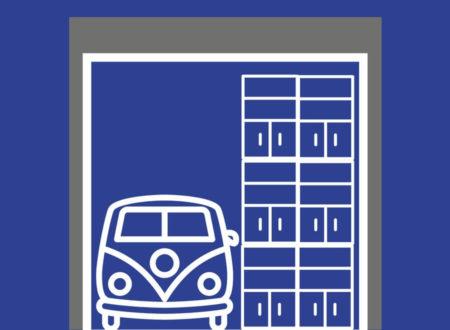 Typ 38: 38 m² / 213 m³ Lageraum fürmindestens1 Fahrzeug / Wohnmobil und Regale bis 6,20 m Höhe