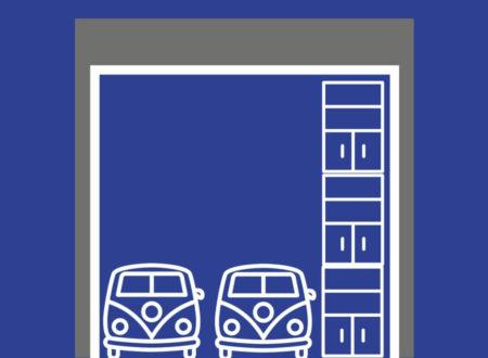 Typ 76: 76 m² / 426 m³ Lageraum für mindestens 2 Fahrzeuge / LKW und Regale bis 6,20 Meter Höhe